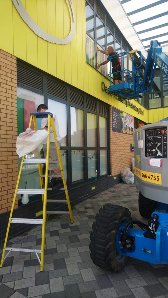 Window Graphics being installed