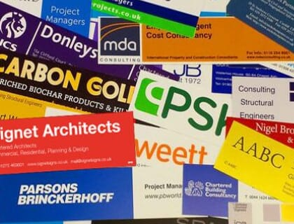 A selection of custom signboards made by a sign maker
