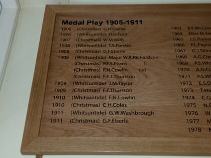 Example of Wooden Honours Board
