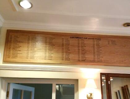 Golf Club Honours Boards