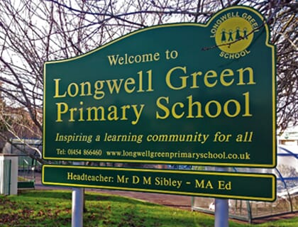 Longwell-Green-Post-Signage