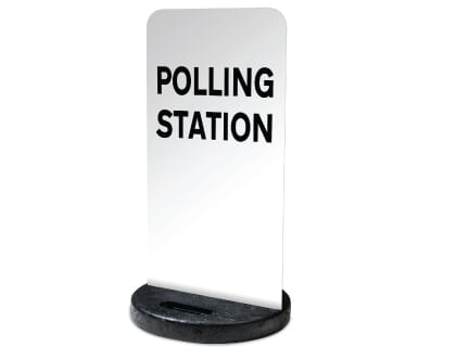 Polling Station Flexi Sign