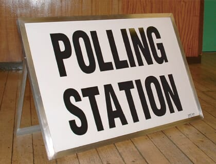 Polling Station Sign Free Standing