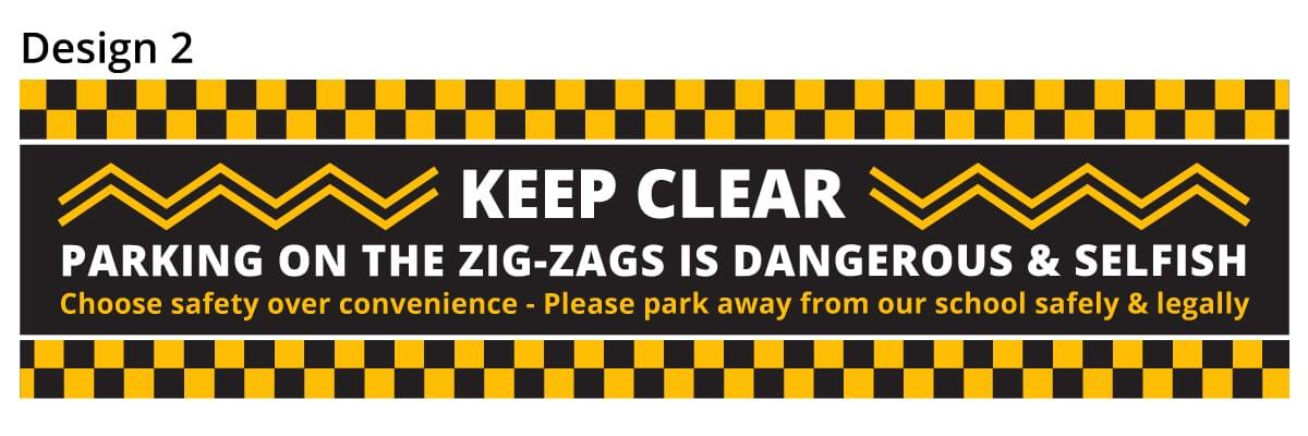 School Parking Safety Banner 2