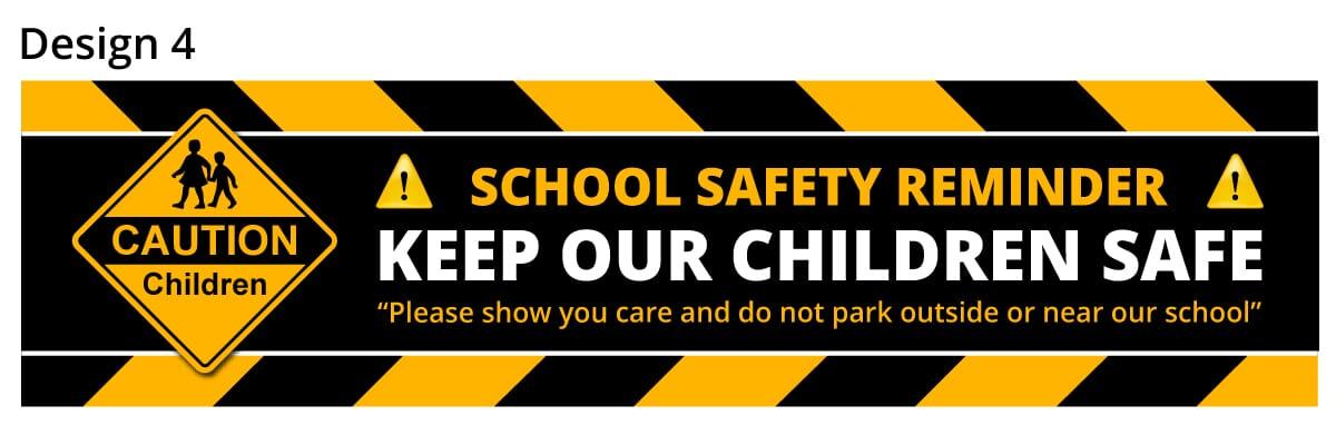School Parking Safety Banner 4