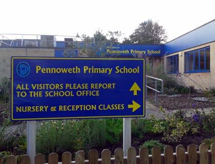 School Wayfinding Sign