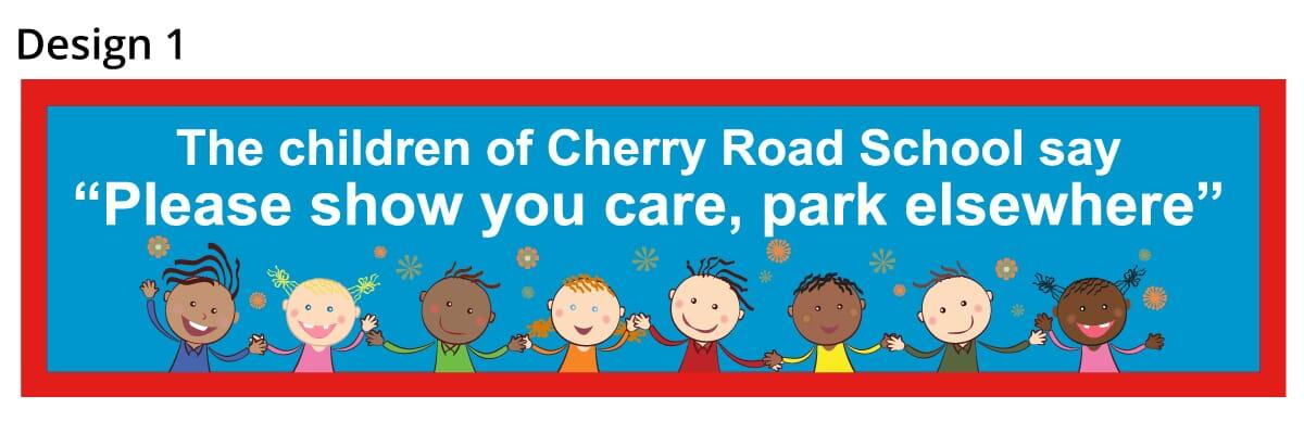 School Parking Safety Banner