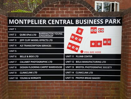 Wall Sign for a Business Park