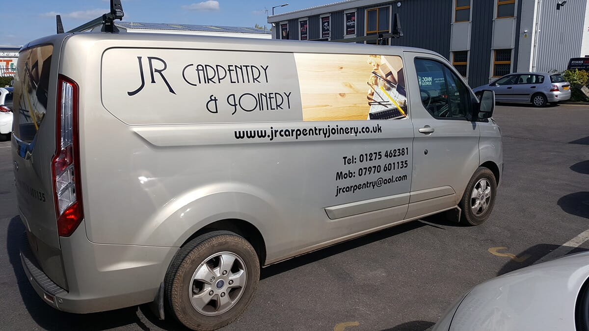 Carpentry Van Sign Writing