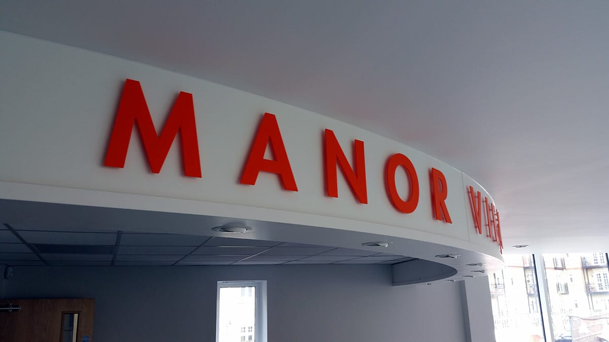 Sign Letters in Reception Area