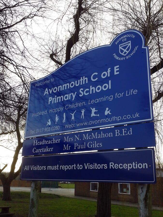 School Post Sign
