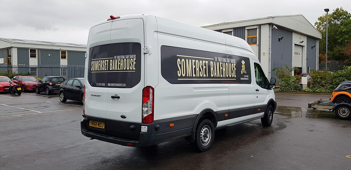 Sign Writing on a Delivery Van