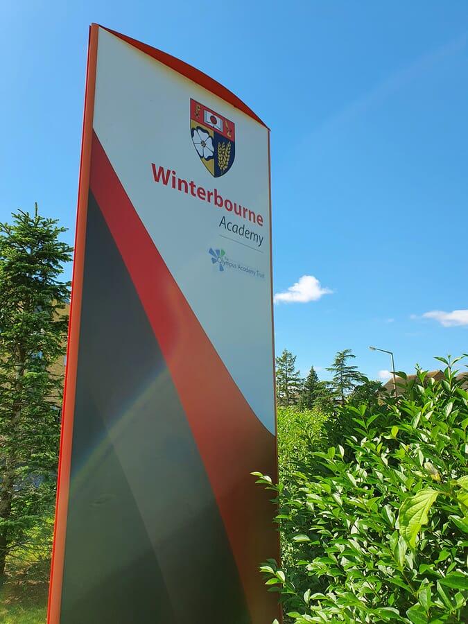 School monolith sign