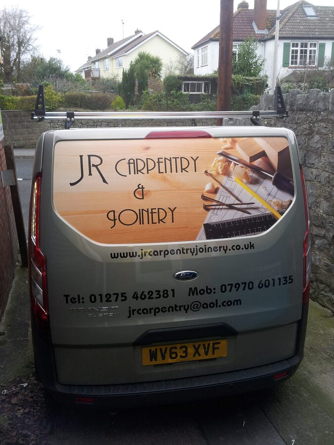 Van Sign Writing on a Carpenters Van
