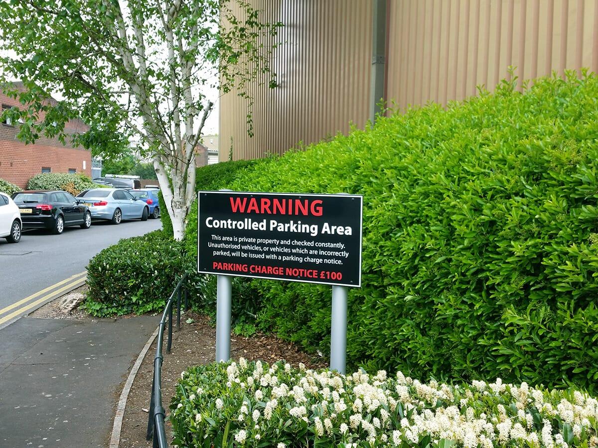 Parking Disclaimer Post Sign