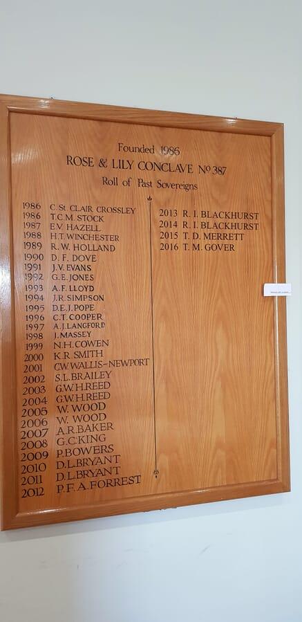 Golf Club Wooden Honours Board