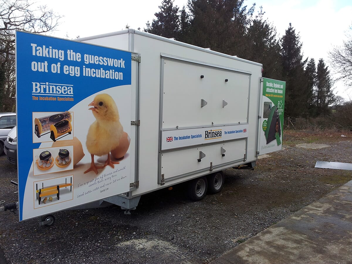 Exhibition Trailer with Sign Writing on it