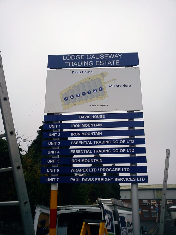 Industrial Estate Directory Sign