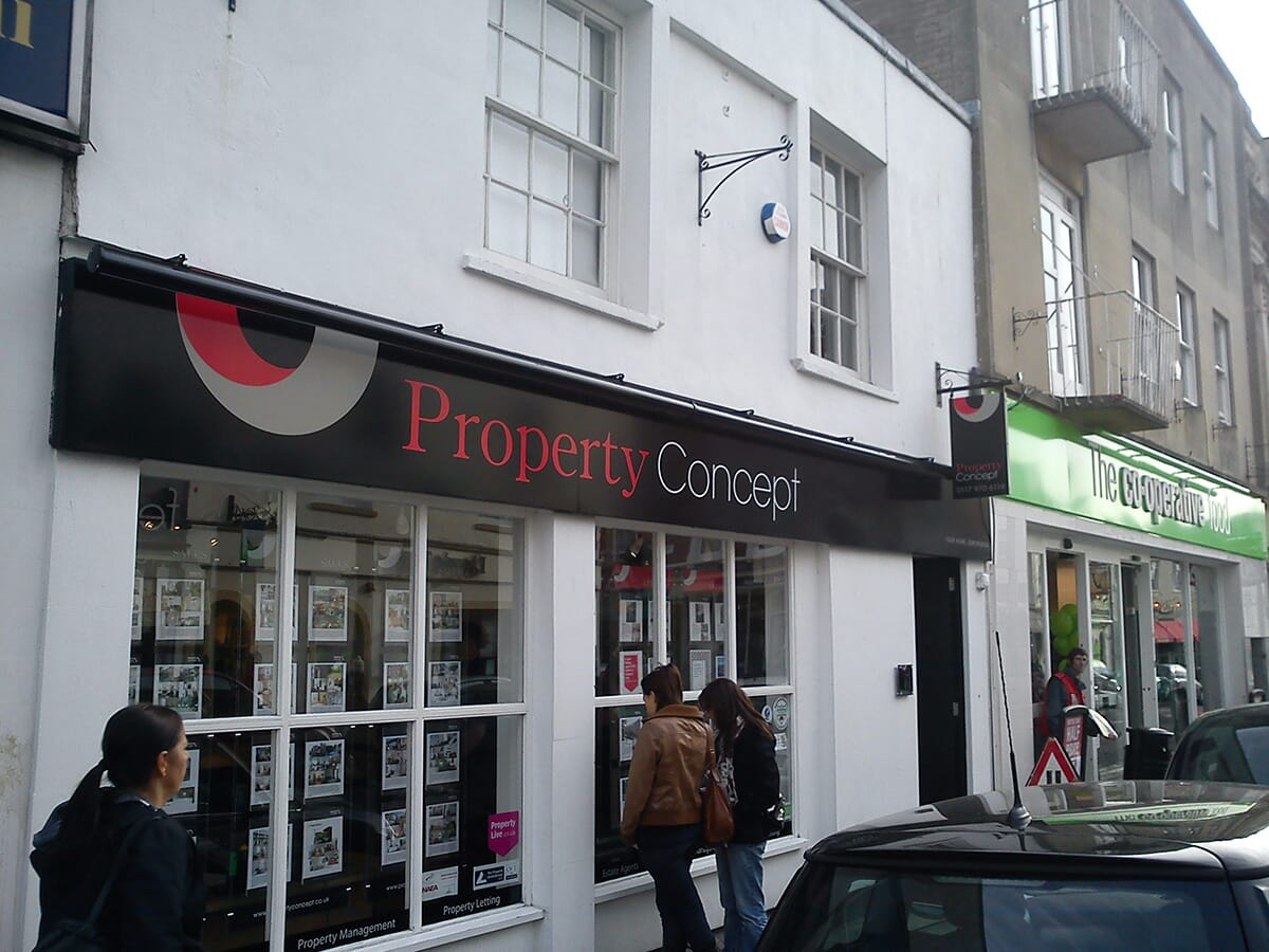 Estate Agent Shop Sign