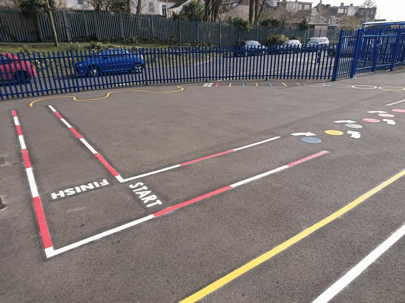 Exercise-Track-Playground-Markings