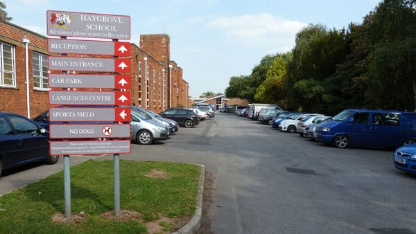 School Car Park Sign