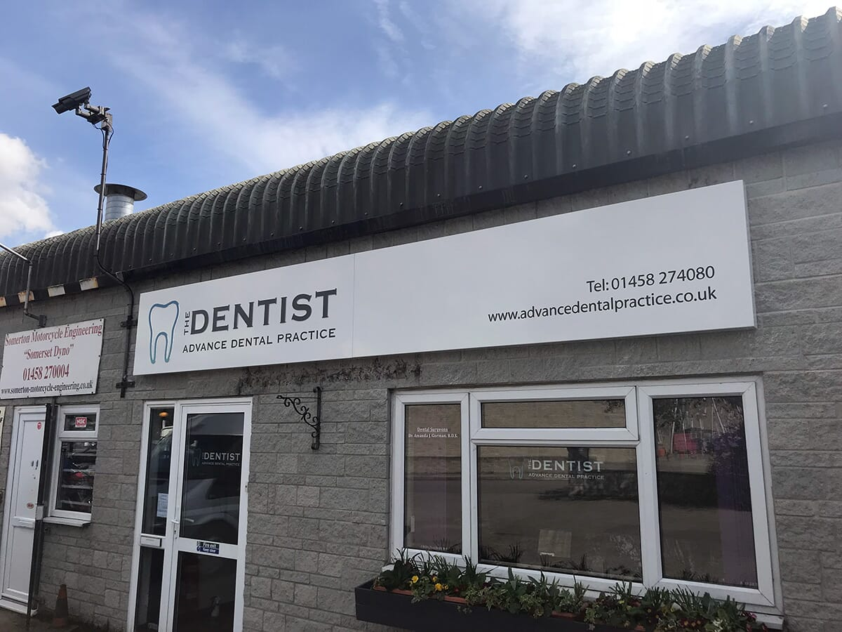 Dentists Shop Sign in Taunton