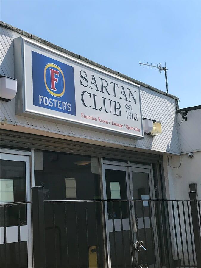 Social Club Shop Sign