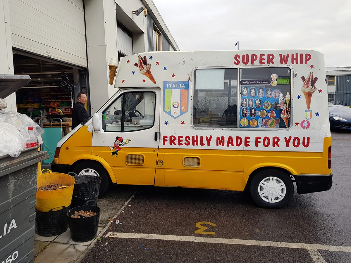 Van Graphics on an Ice Cream Van