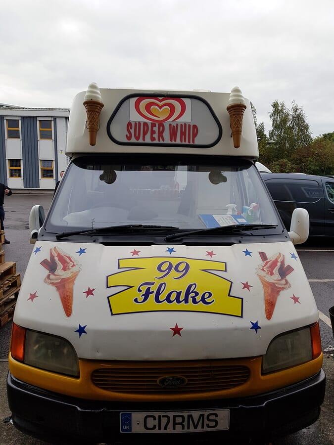 Van Graphics on an Ice Cream Van