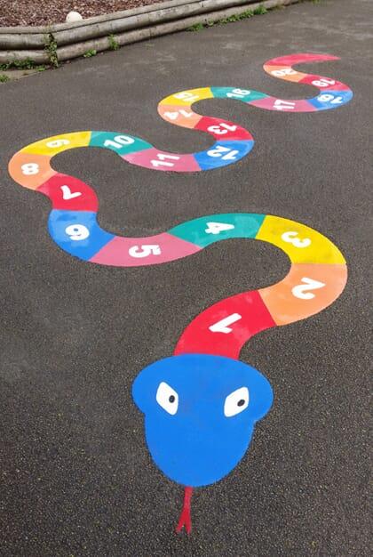 Number Snake Playground Marking