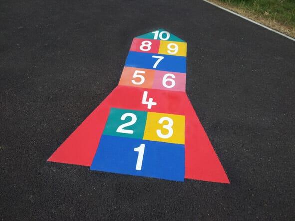 Rocket Hopscotch Playground Marking