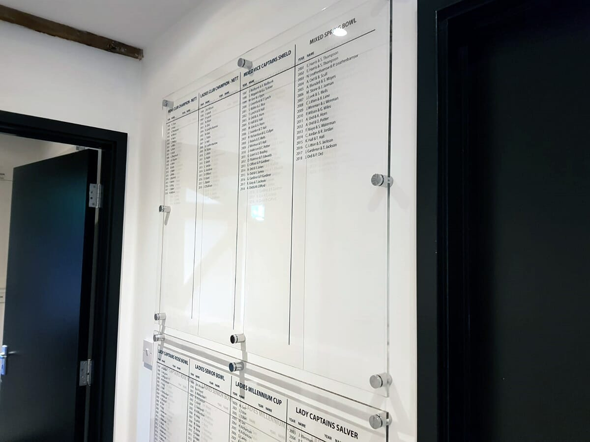 Acrylic Honours Board