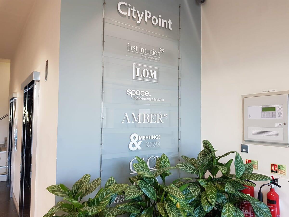 Office Reception Area Sign