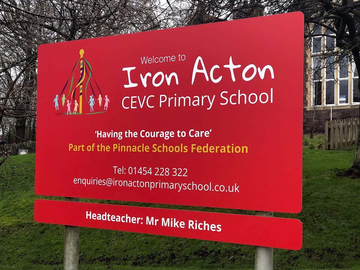 School Sign for Iron Acton School